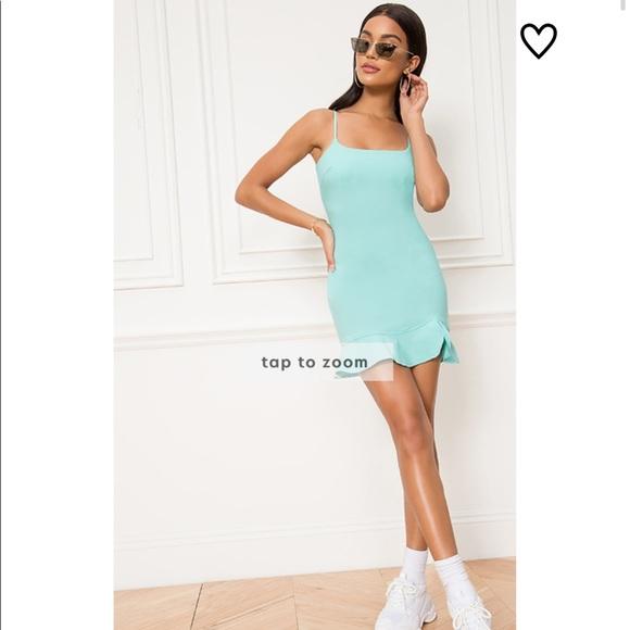 Revolve Superdown Shayla ruffle mini dress